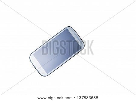 isolated touch phone. Black smart phone isolated on white. Mobile phone blank screen isolated on white. Black screen 3G Cell phone on white background.