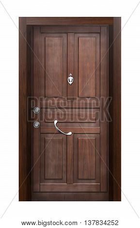 Wood looking front door. internal stainless steel