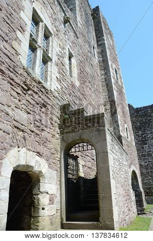 A view of the architecture inside Doune castle