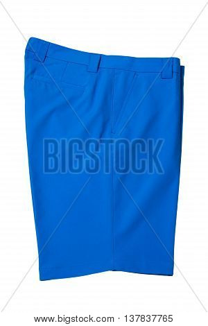 Light blue short pants trousers for man or woman on white background