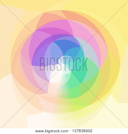 abstract modern swirl background - full color rainbow spectrum colored - yellow and orange