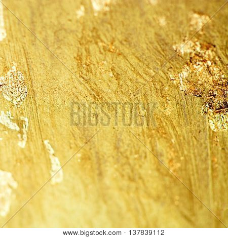 Gold metal textured foil effect. Abstract golden foil watercolor background template for cards invitations poster
