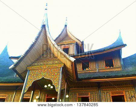 Rumah gadang pagaruyung  palace  in west sumatra indonesia
