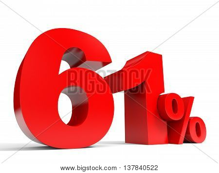 Red Sixty One Percent Off. Discount 61%.