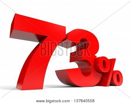 Red Seventy Three Percent Off. Discount 73%.