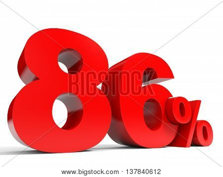 Red Eighty Six Percent Off. Discount 86%.