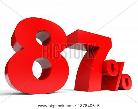 Red Eighty Seven Percent Off. Discount 87%.