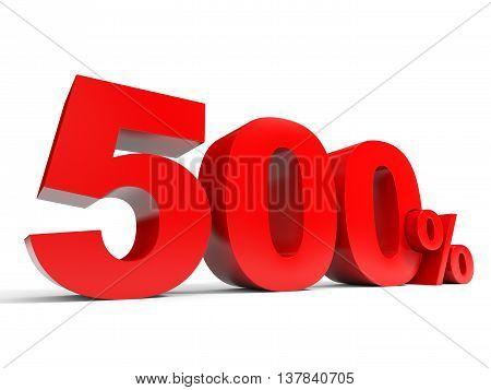 Five Hundred Percent Off. Discount 500%.