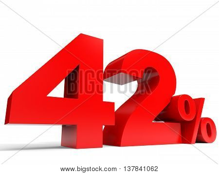 Red Forty Two Percent Off. Discount 42%.