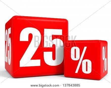 Red Sale Cubes. Twenty Five Percent Discount.