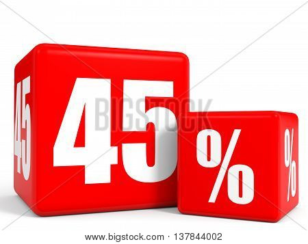 Red Sale Cubes. Forty Five Percent Discount.
