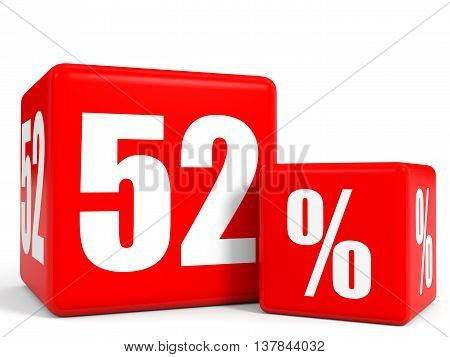 Red Sale Cubes. Fifty Two Percent Discount.