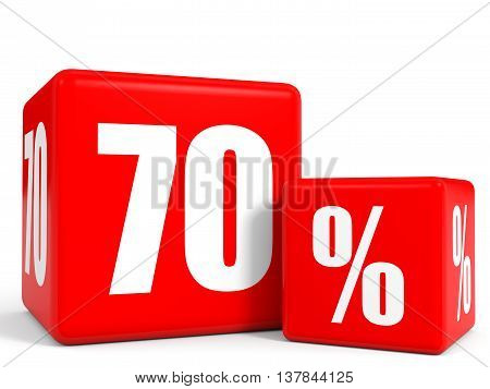 Red Sale Cubes. Seventy Percent Discount.