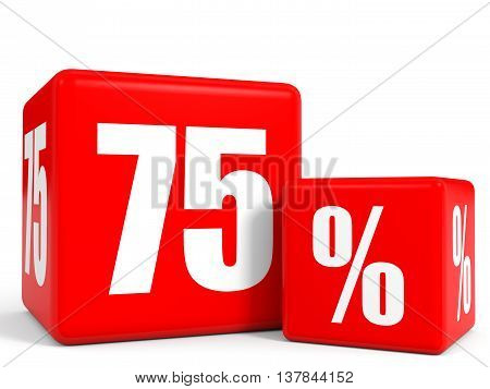Red Sale Cubes. Seventy Five Percent Discount.