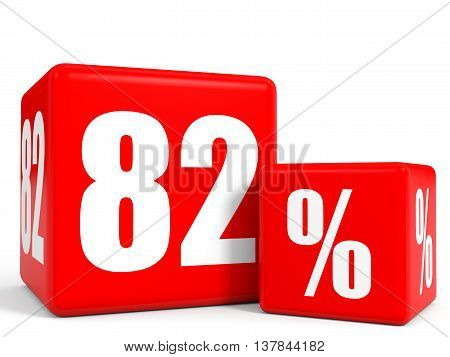Red Sale Cubes. Eighty Two Percent Discount.