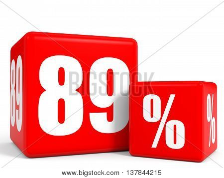 Red Sale Cubes. Eighty Nine Percent Discount.