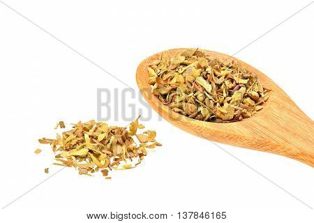 dried oregano isolated on a white background