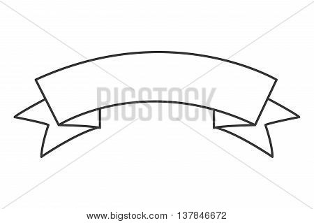 ribbon label tag icon isolated vector illustration