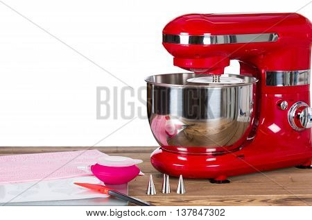 Kneading machine cakes with decoration a tools