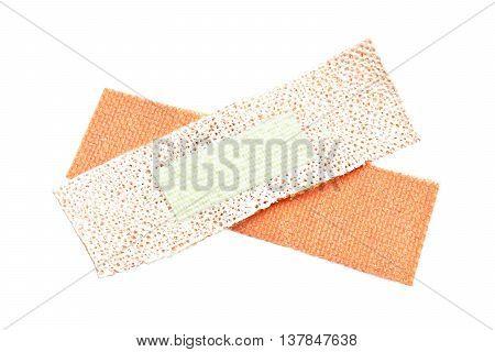 adhesive medical bandage isolated on white background