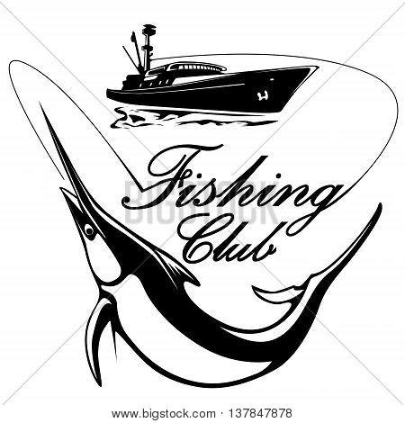 Marlin Logo With Ship
