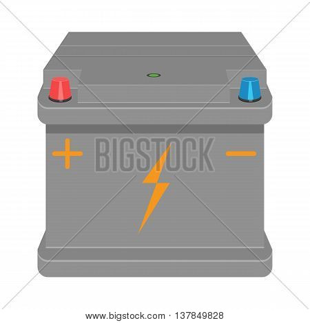 Car Battery vector illustration isolated on a white background