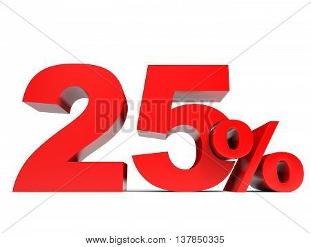 Red Twenty Five Percent Off. Discount 25%.