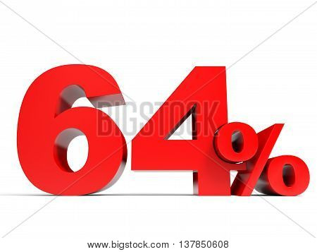 Red Sixty Four Percent Off. Discount 64%.