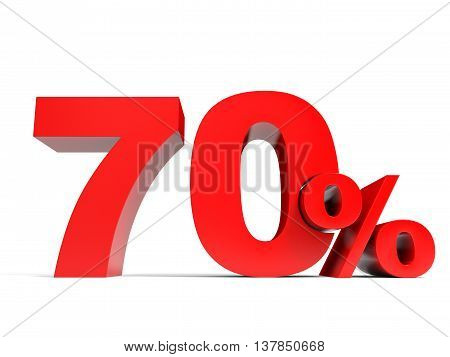 Red Seventy Percent Off. Discount 70%.
