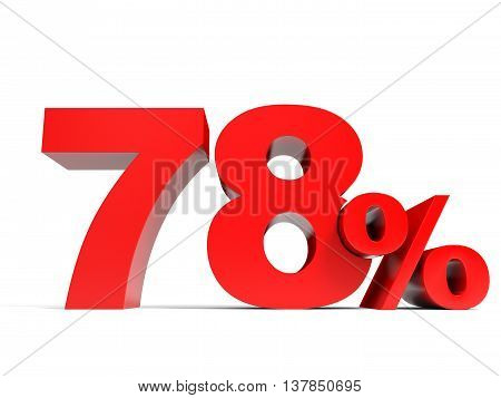 Red Seventy Eight Percent Off. Discount 78%.