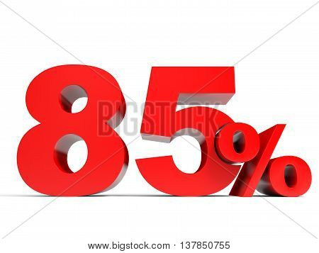 Red Eighty Five Percent Off. Discount 85%.