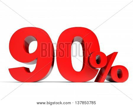 Red Ninety Percent Off. Discount 90%.