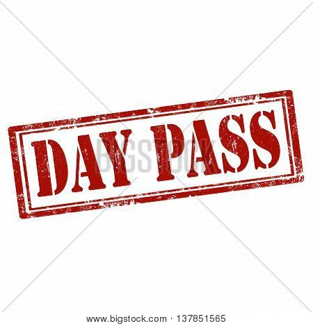 Grunge rubber stamp with text Day Pass,vector illustration
