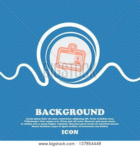 Id Card Sign Icon. Blue And White Abstract Background Flecked With Space For Text And Your Design. V