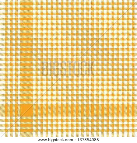 Yellow Checkered Table Cloth Pattern