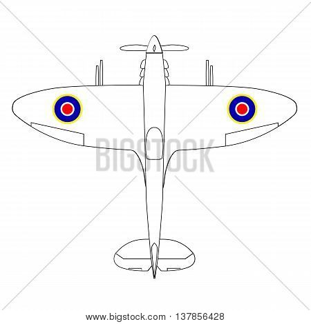 A typical world war two british fighter aircraft