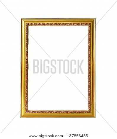 Abstract picture frame isolated on white background