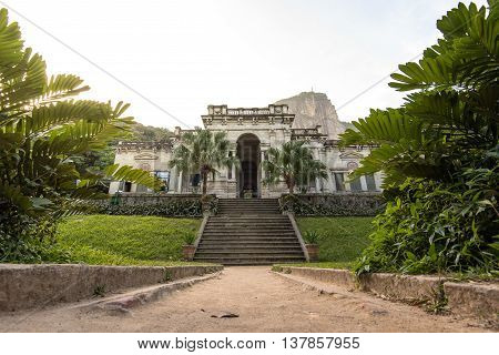 Mansion of Lage Park at the foot of Corcovado mountain in Rio de Janeiro, Brazil