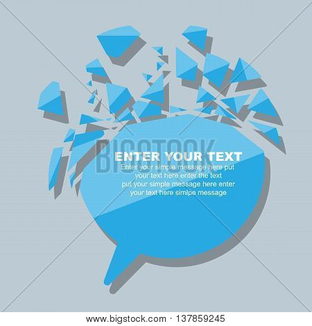 CRUSHED ELEMENTE TEMPLATE MESSAGE STICKER THIRD EDITION BLUE