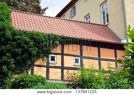 wall of a timber framed building in germany