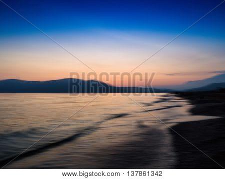 Horizontal vivid tidal waves ocean beach motion abstraction background backdrop