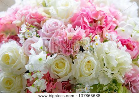 Wonderful Luxury Wedding Bouquet  Of Different Flowers. Decorate Flowers For Wedding
