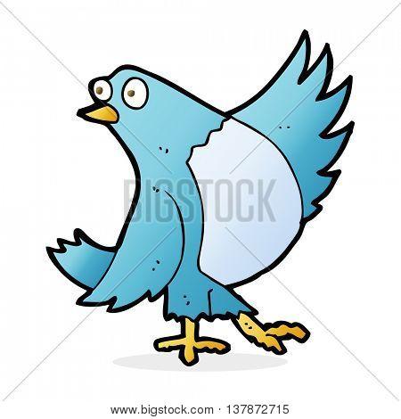 cartoon dancing bluebird