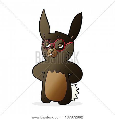 cartoon rabbit wearing spectacles