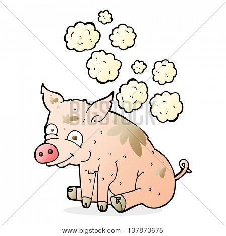 cartoon smelly pig