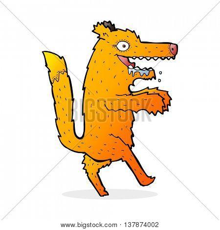 cartoon hungry fox
