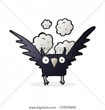 cartoon spooky bird