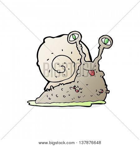 cartoon gross slug