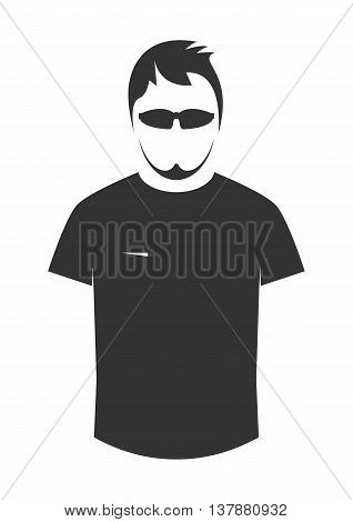 T-shirt icon. Icon isolated on white. Vector illustration.
