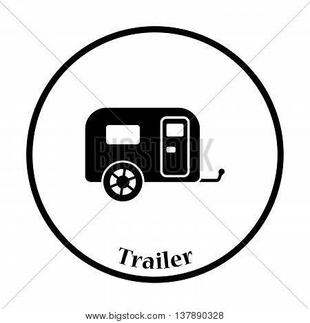 Camping Family Caravan Car  Icon